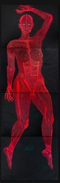 Untitled SELF PORTRAIT study I 2009 oil,acrylic on canvas 4 pieces 80 x 60cm
