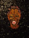 SIRENS LAMENT 2013 oil,acrylic, bark on canvas 80.5 x 60cm